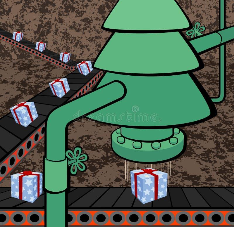 圣诞节工厂 库存例证