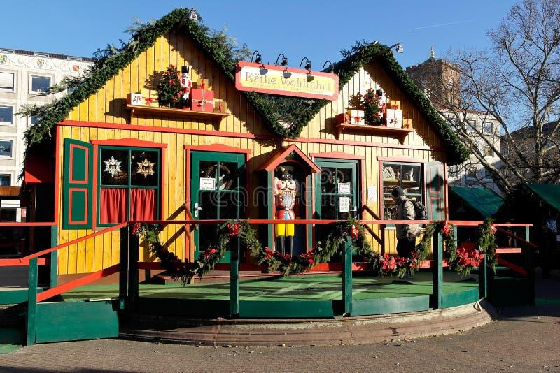 圣诞节市场在卡尔斯鲁厄 库存图片