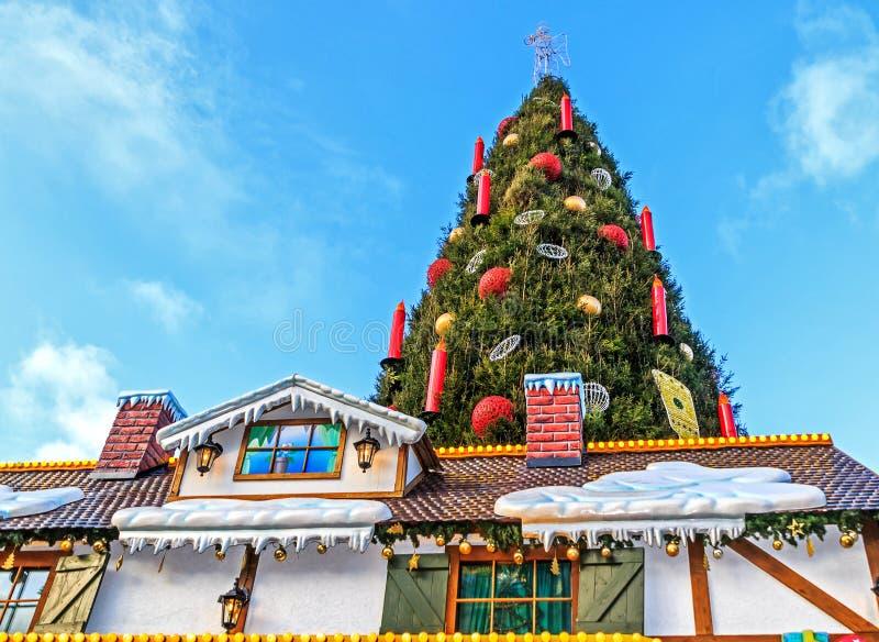 圣诞节市场在多特蒙德德国镇  免版税库存图片