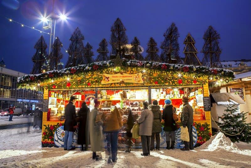 圣诞节市场在德累斯顿 免版税图库摄影