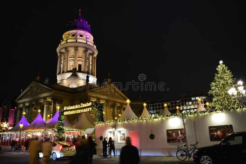 圣诞节市场在柏林德国 免版税库存照片
