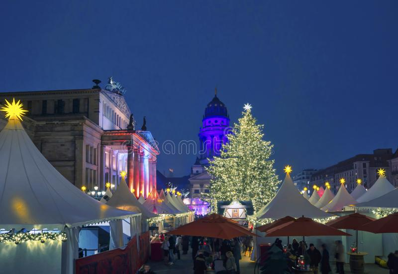 圣诞节市场在柏林,德国 免版税库存照片