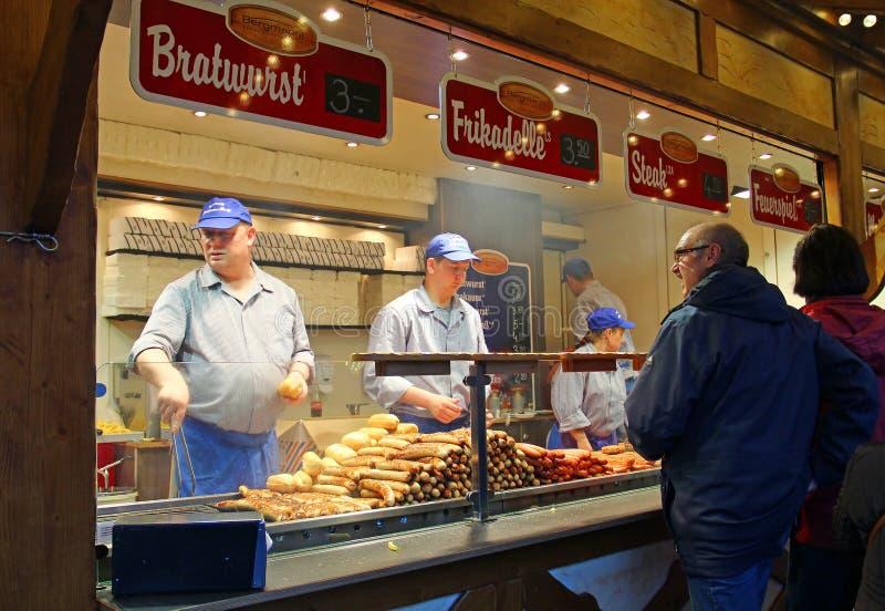 圣诞节市场在柏林,德国 库存照片