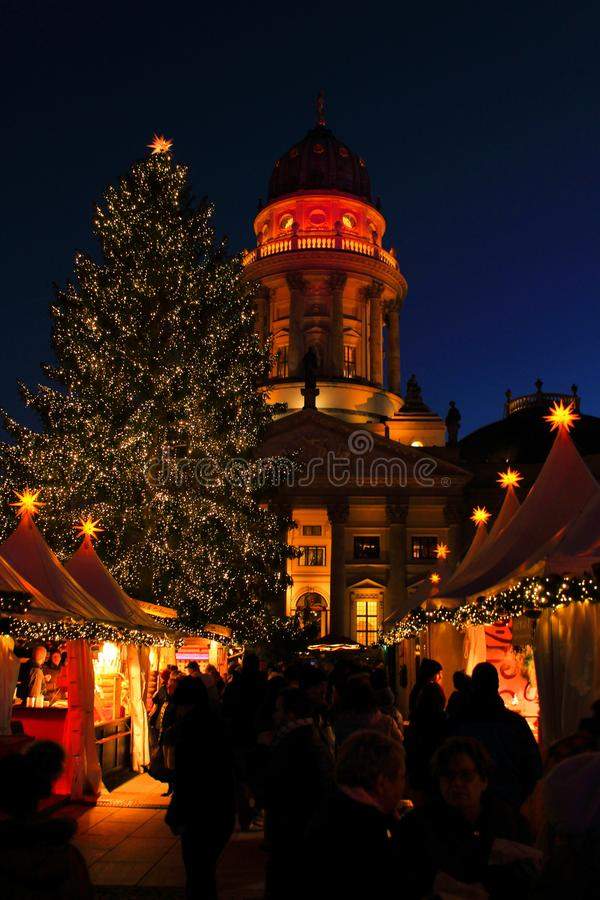 圣诞节市场在柏林 库存照片