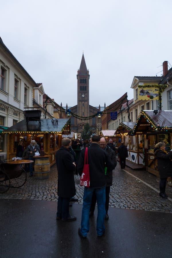 圣诞节市场在老镇波茨坦 库存图片