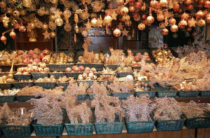 圣诞节市场在维也纳 免版税图库摄影