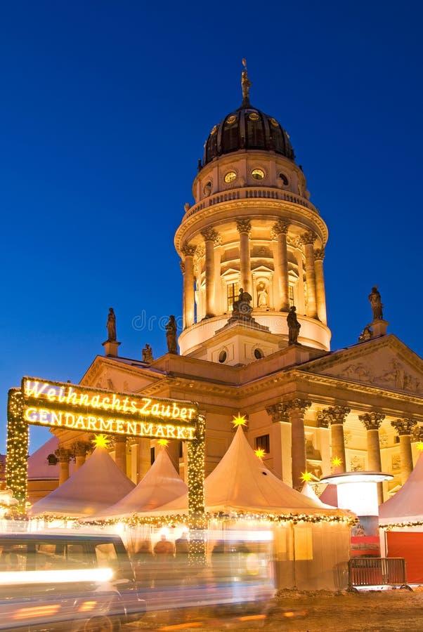圣诞节市场柏林gendarmenmarkt 免版税库存图片