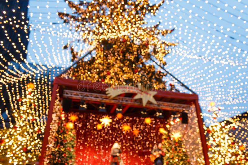 圣诞节市场阶段在科隆的中心 库存图片