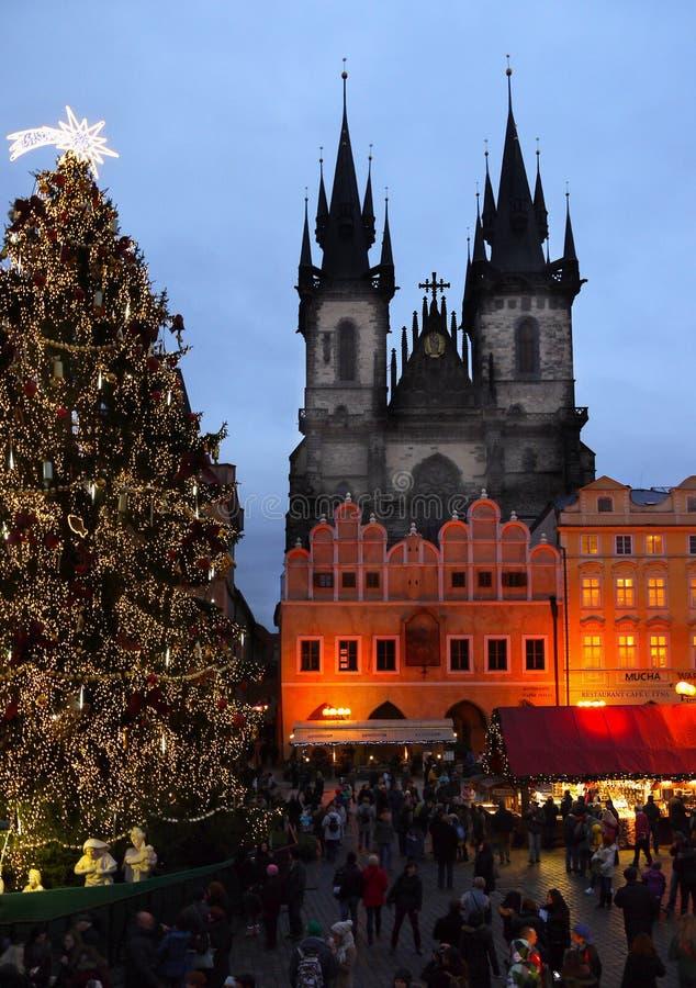 圣诞节市场,布拉格 免版税库存照片