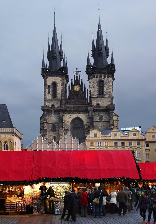 圣诞节市场,布拉格 库存照片