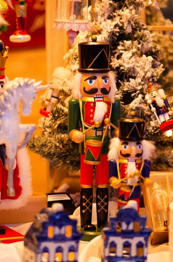圣诞节市场,胡桃钳 库存图片