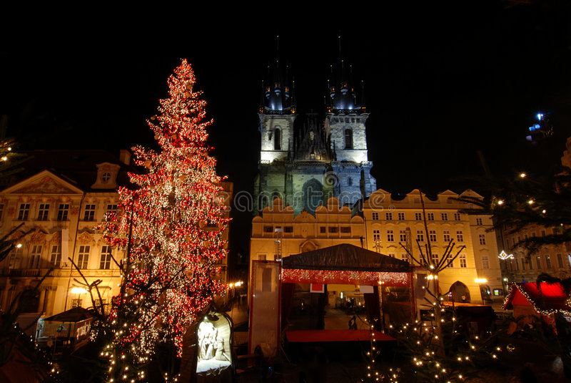圣诞节布拉格 库存图片