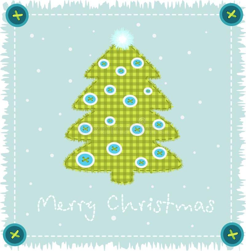 圣诞节布料做结构树 向量例证