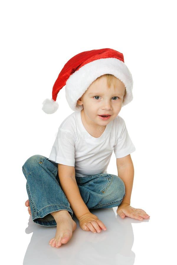 圣诞节帽子孩子圣诞老人 库存照片