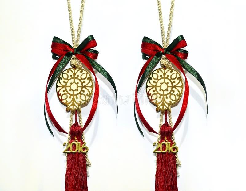 2016年圣诞节幸运的石榴魅力 免版税库存照片