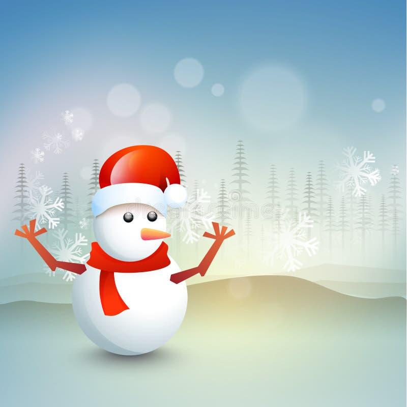 Download 圣诞节庆祝的逗人喜爱的雪人 库存例证. 插画 包括有 装饰, 庆祝, 场合, 祝贺, 12月, 高雅, christmastime - 62529804
