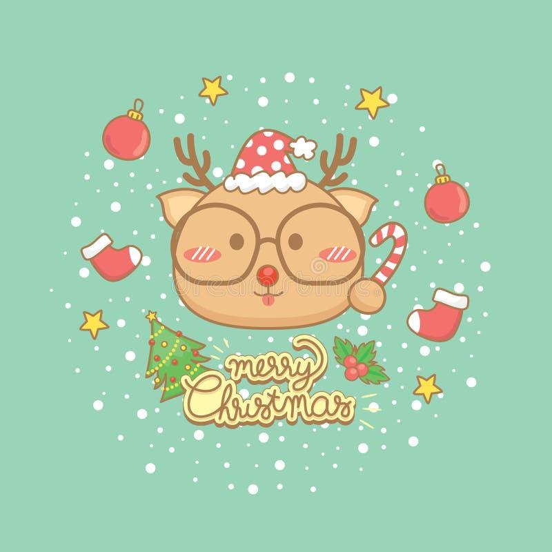 圣诞节庆祝贺卡集合 图库摄影