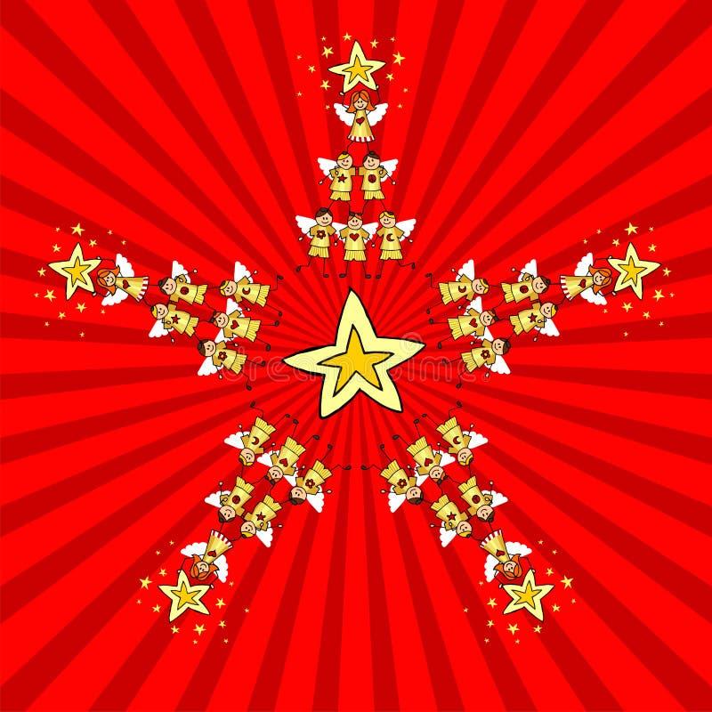 圣诞节开玩笑星形 向量例证