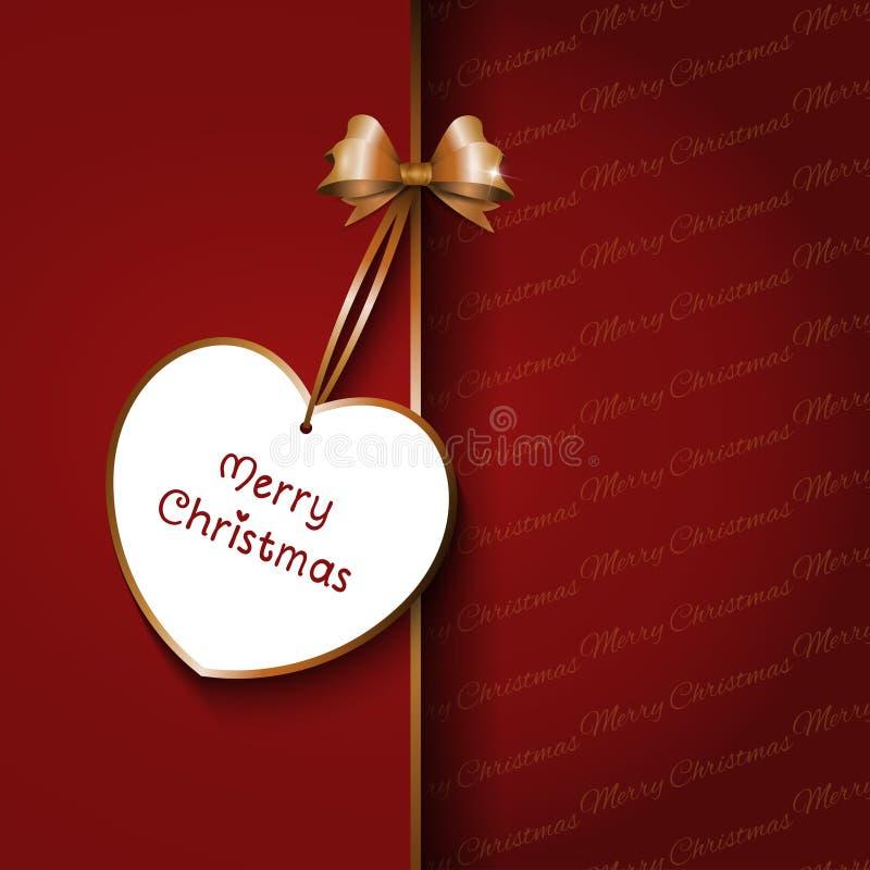 圣诞节弓背景 库存例证