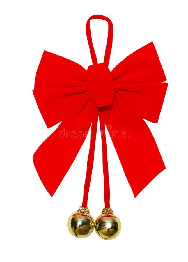 圣诞节弓 免版税图库摄影