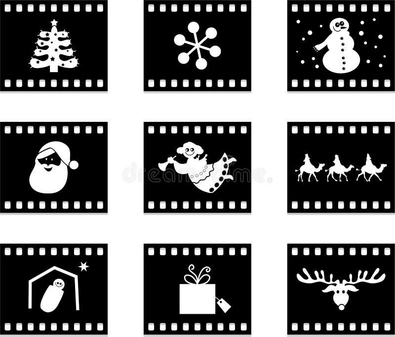 圣诞节影片 向量例证