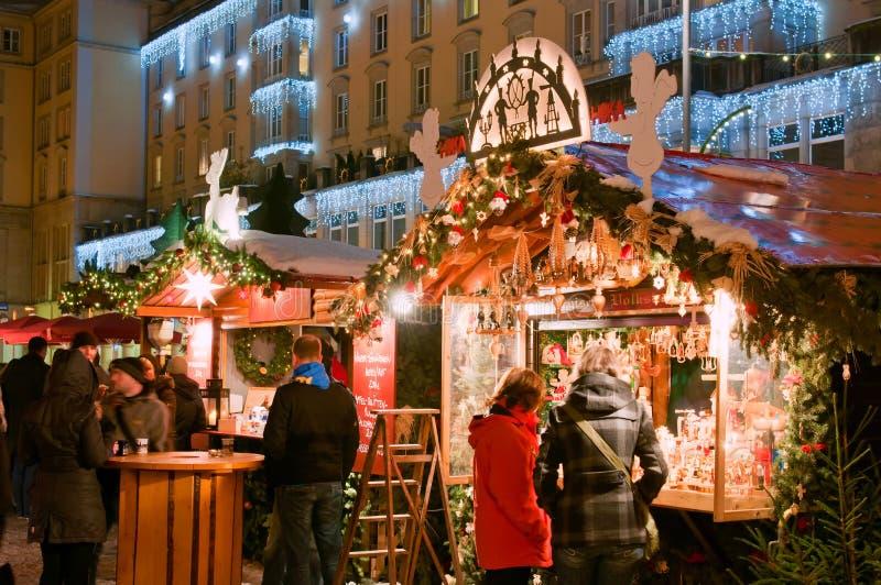圣诞节德累斯顿市场 库存图片