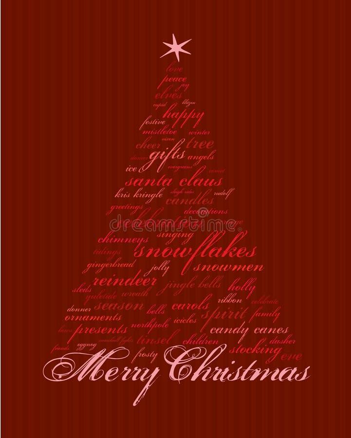 圣诞节快活的字 库存例证