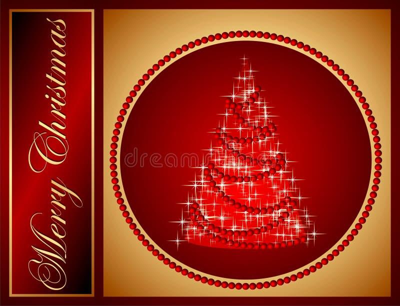 圣诞节快活的明信片 向量例证
