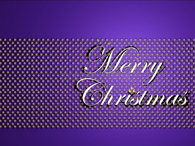 圣诞节快活的银色文本 向量例证