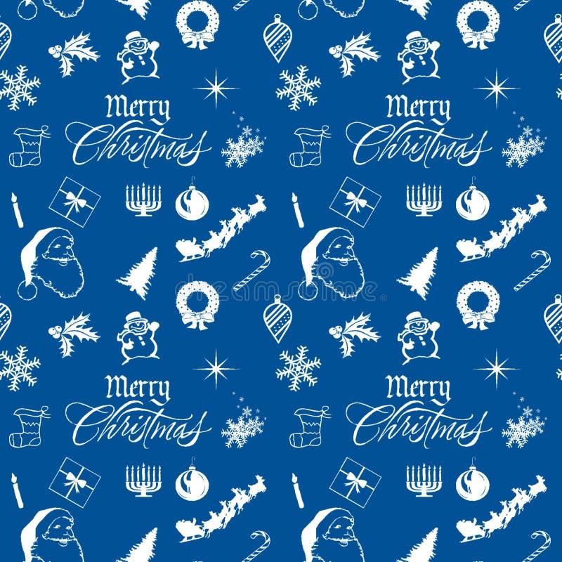 圣诞节快活的模式 免版税图库摄影