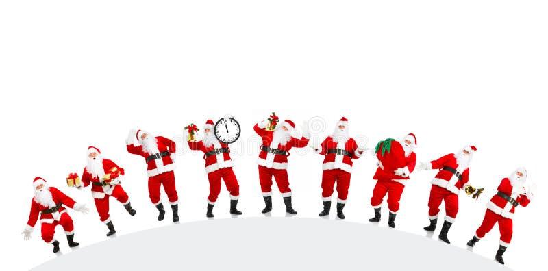 圣诞节愉快的圣诞老人 向量例证