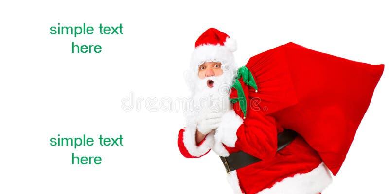 圣诞节愉快的圣诞老人 免版税库存照片