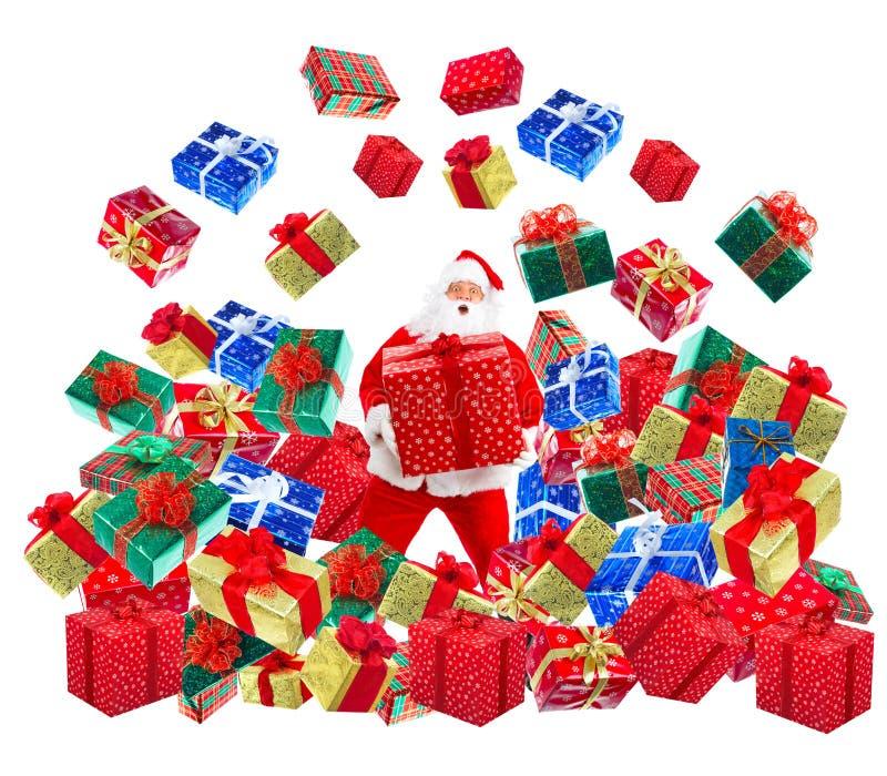 圣诞节愉快的圣诞老人 图库摄影