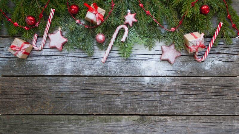 圣诞节愉快的快活的新年度 背景 免版税库存照片