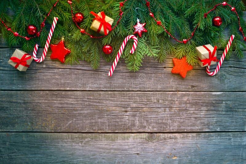 圣诞节愉快的快活的新年度 背景 免版税库存图片