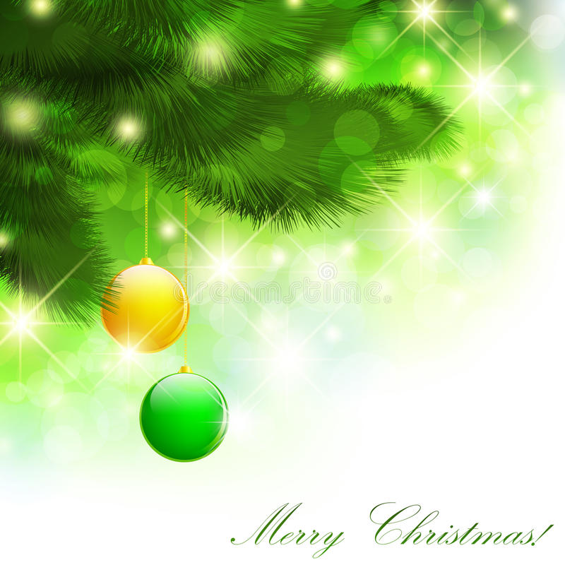 圣诞节愉快的快活的新年度 库存例证