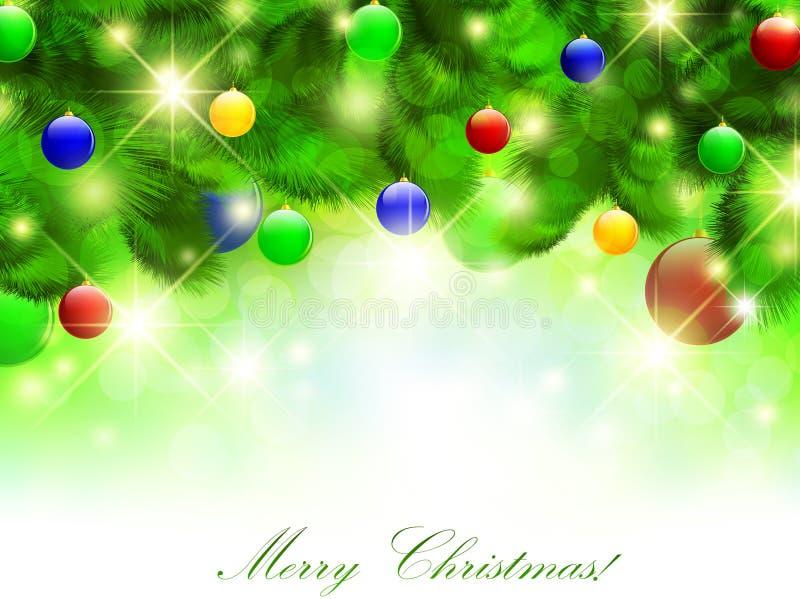 圣诞节愉快的快活的新年度 皇族释放例证
