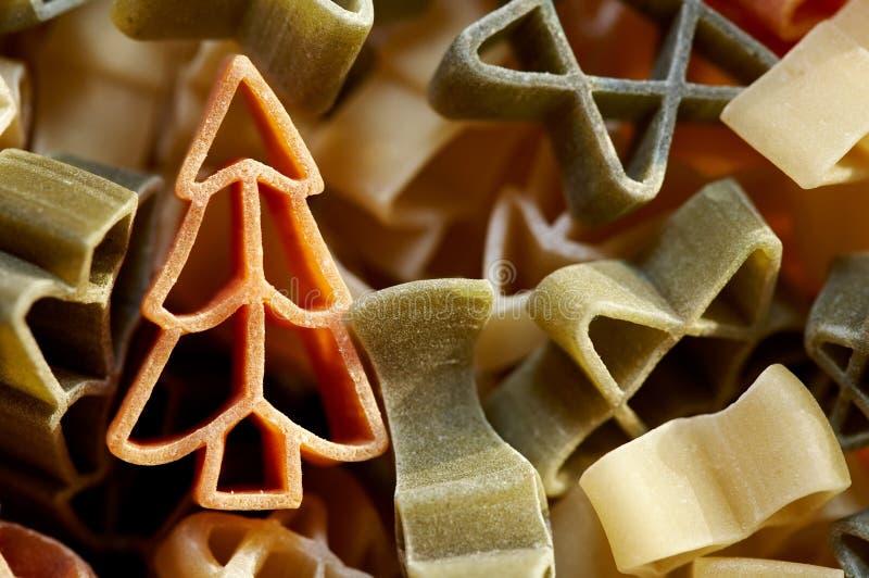 圣诞节意大利面食 免版税图库摄影