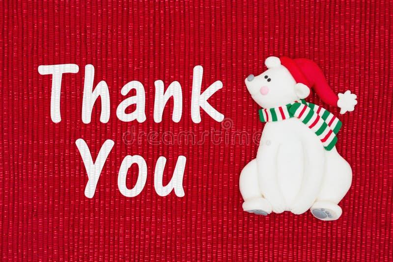 圣诞节感谢您消息 免版税库存照片