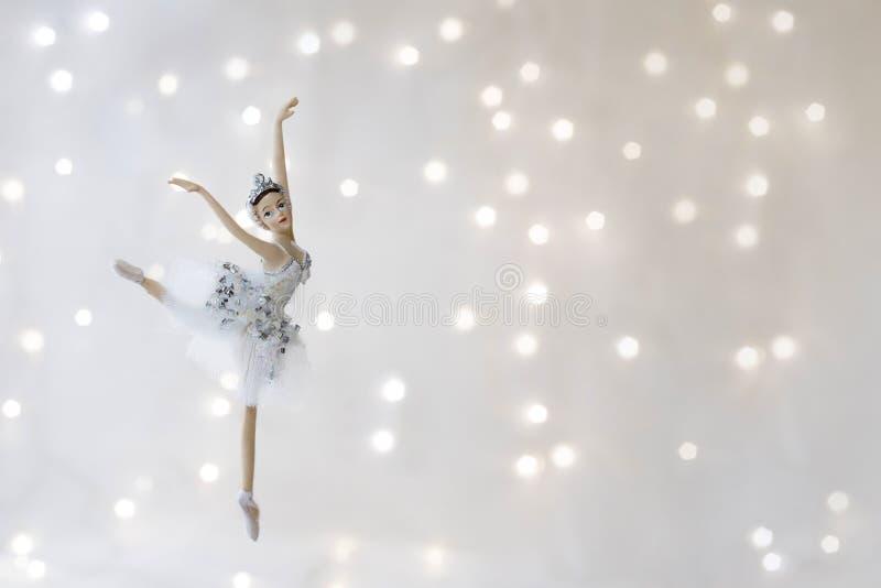 圣诞节戏弄芭蕾舞女演员 免版税图库摄影