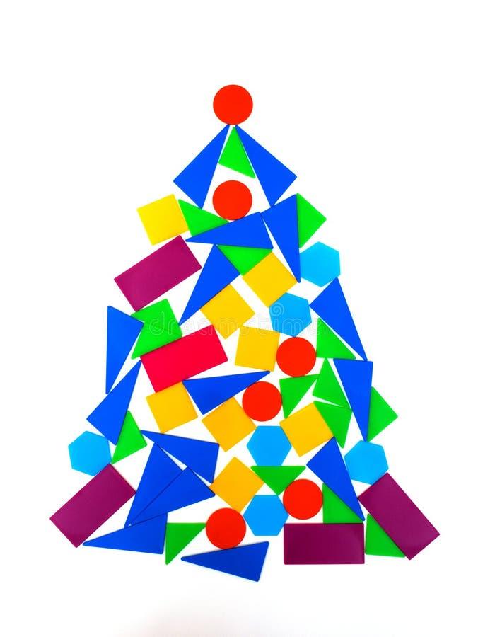 圣诞节我的投资组合结构树向量版本 与三角的抽象背景 另外的背景eps8格式几何现代 向量例证