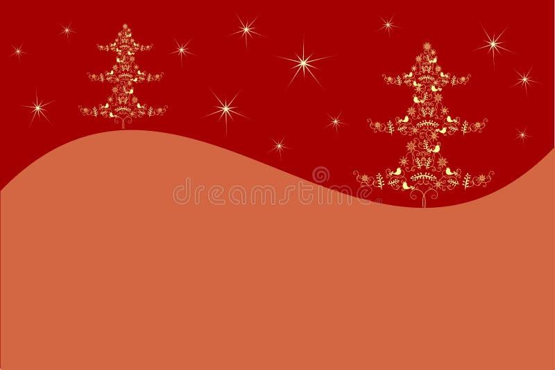圣诞节我的投资组合结构树向量版本 形成从星,bulfinch,姜饼,手套,避难所,霍莉 库存例证