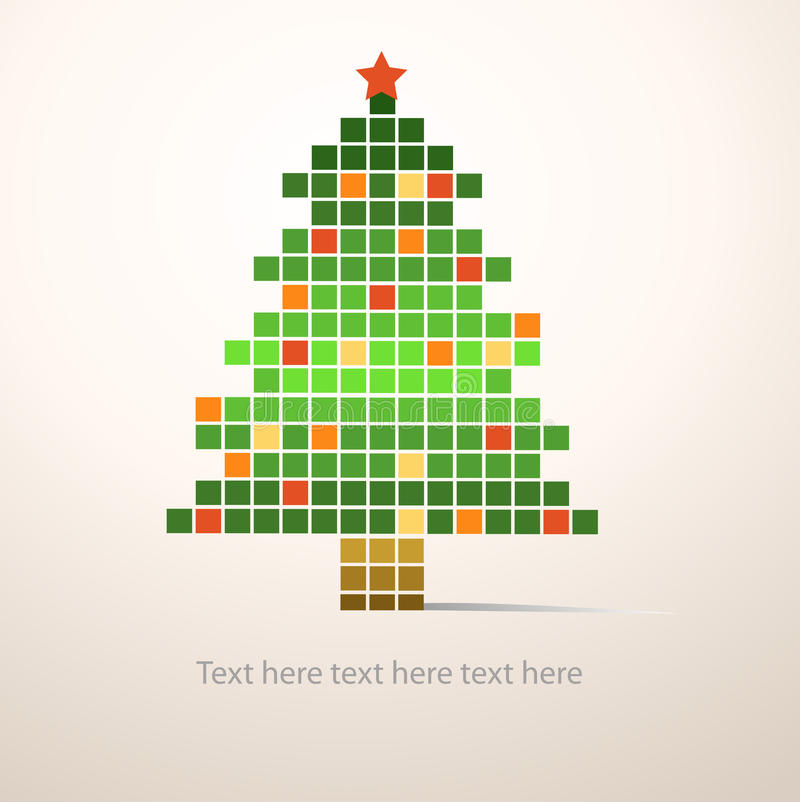 圣诞节我的投资组合结构树向量版本 皇族释放例证
