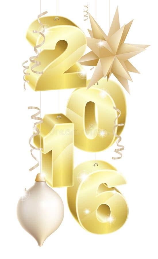 2016年圣诞节或新年装饰品 皇族释放例证