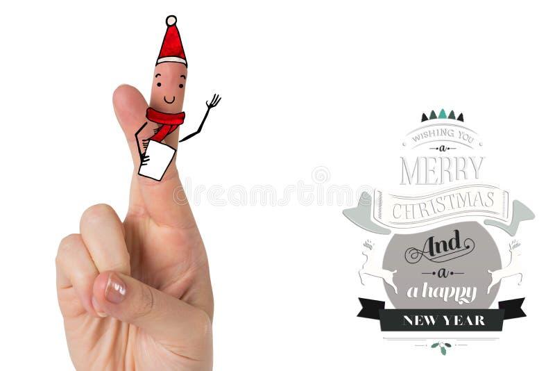 圣诞节手指的综合图象 皇族释放例证