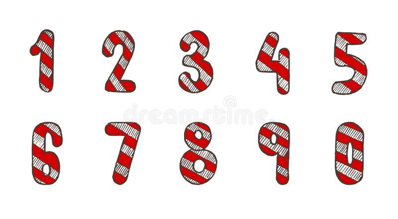 圣诞节拉伸次数 库存例证