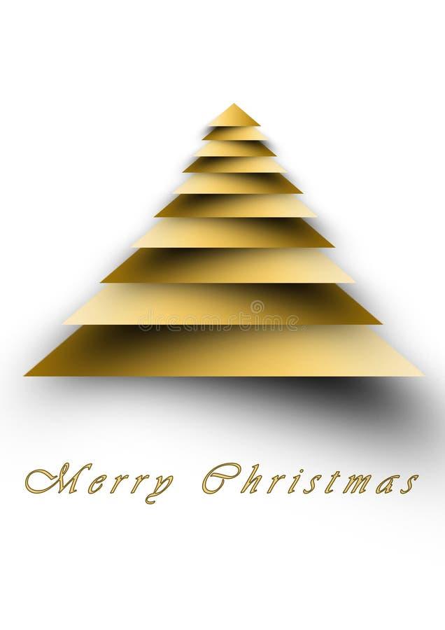 圣诞节招呼的背景白色和金子 库存例证