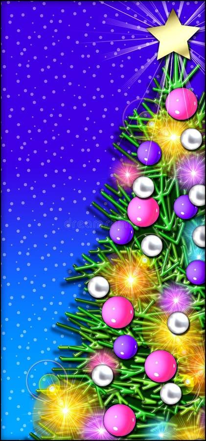 圣诞节接近的结构树 皇族释放例证