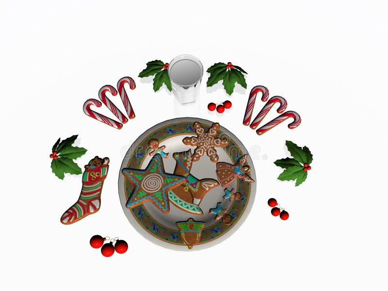 圣诞节收集曲奇饼 向量例证