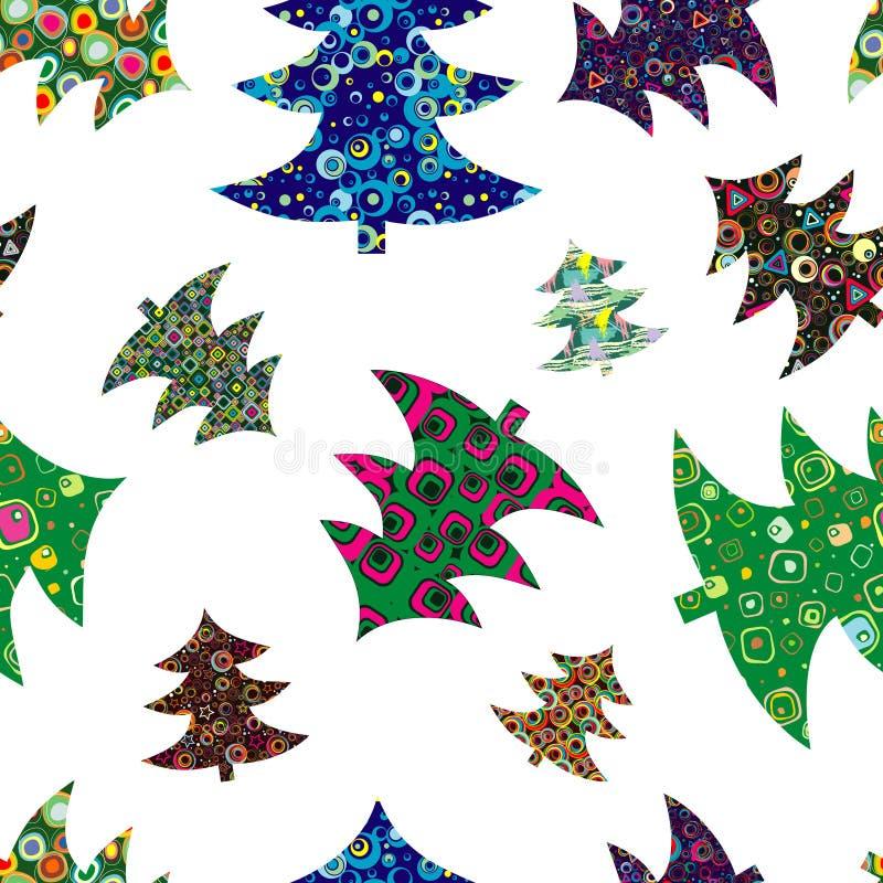 圣诞节收集毛皮结构树 皇族释放例证